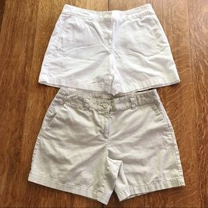 2 Pairs Ann Taylor LOFT Original Shorts Size 6